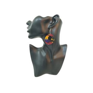 Abstract Painted Earrings