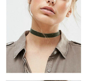 Green Choker Necklace - thatboholife