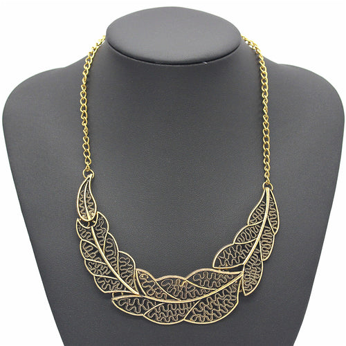 Gold Leaf Necklace - thatboholife