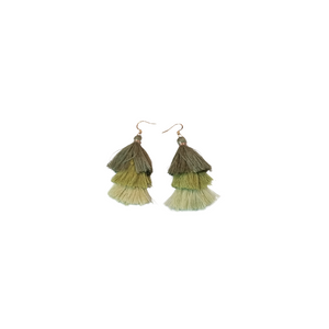 Tassel Earring Green - thatboholife