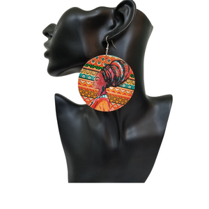 African Art Earrings