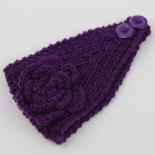 Purple Crochet Headband - thatboholife
