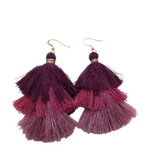 Purple Tassel Earrings