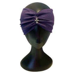 Purple Turban Headband - thatboholife
