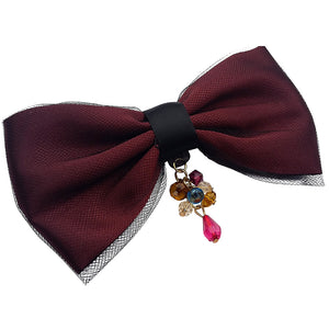 hairbow with dangling  beads