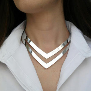 Silver Choker Necklace - thatboholife