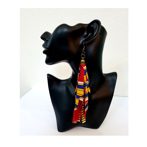 Ankara Tassel Earrings - thatboholife