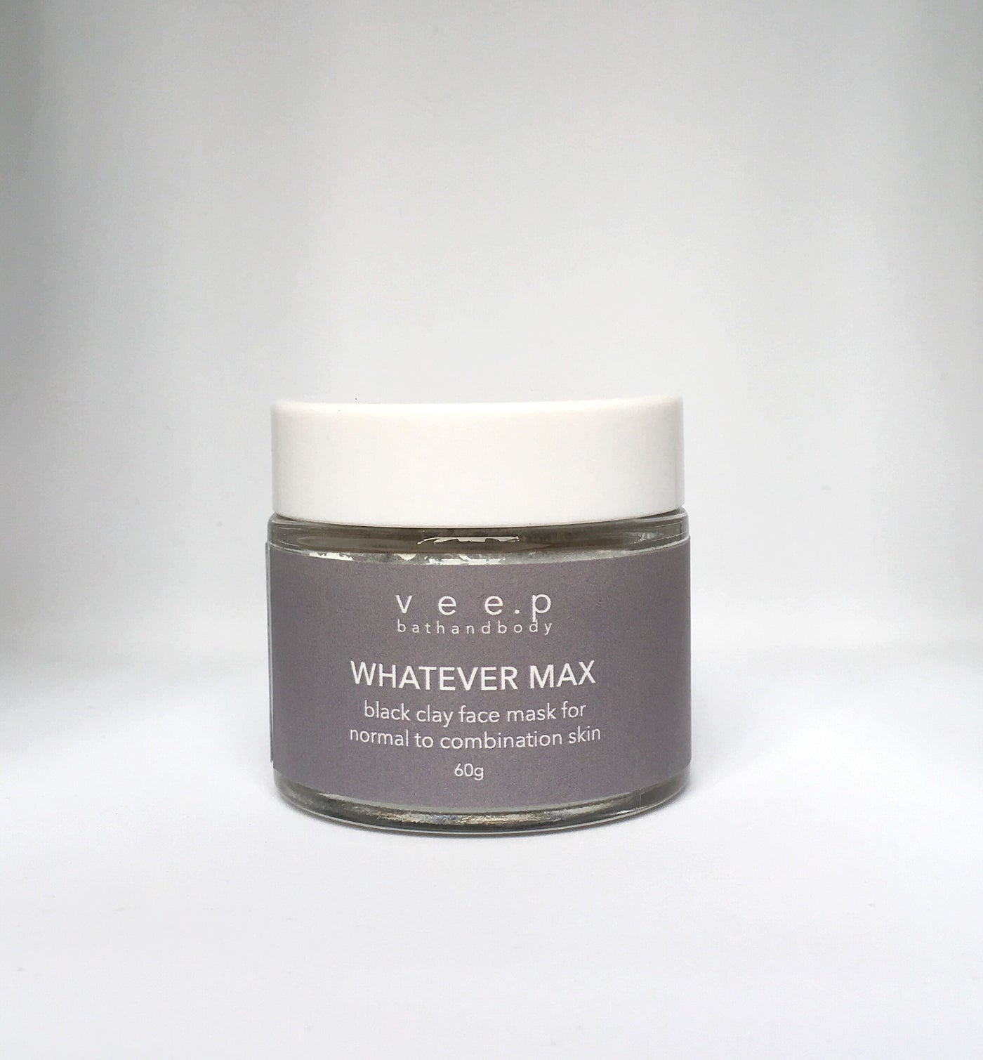 WHATEVER MAX CLEANSING & CONDITIONING BLACK CLAY FACE MASK 60g