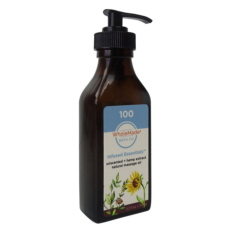 Unscented Massage Oil + Hemp Extract