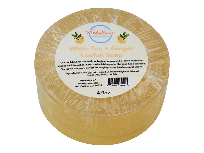 WholeBody White Tea + Ginger Loofah Soap