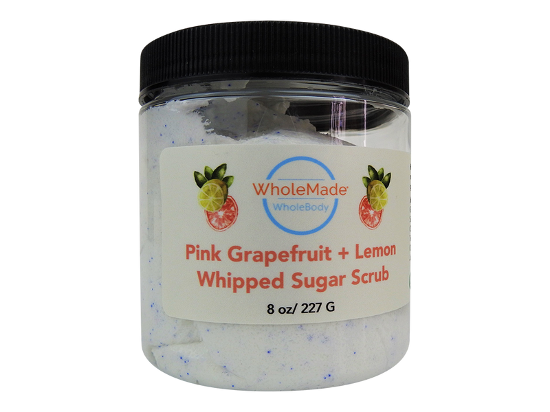 Pink Grapefruit and Lemon Whipped Sugar Soap