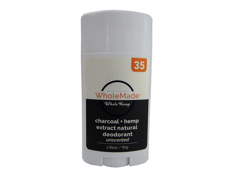 Charcoal Hemp Infused Natural Deodorant | Unscented