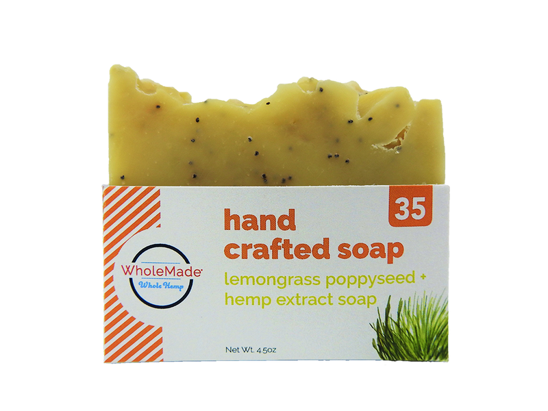 Lemongrass Poppy Hemp Soap
