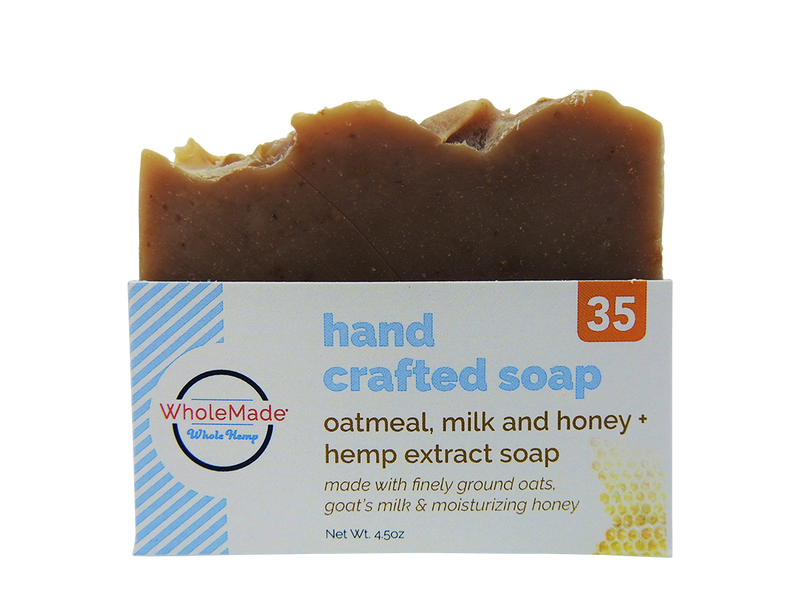 Oatmeal, Milk & Honey Hemp Soap
