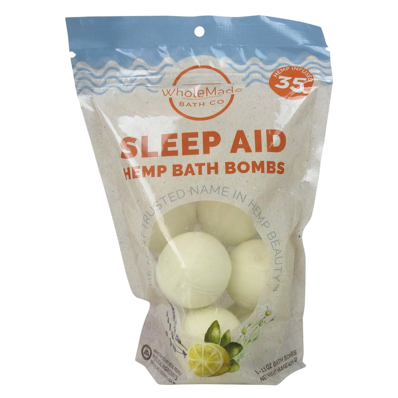 Bulk Hemp Bath Bomb Bag (8 count) | Sleep Aid