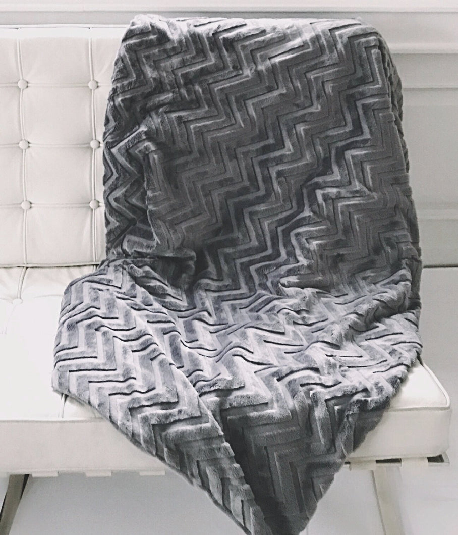 The Embossed Minky Throw