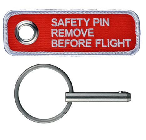25027-001   Safety Pin & Flag, CAPS Handle