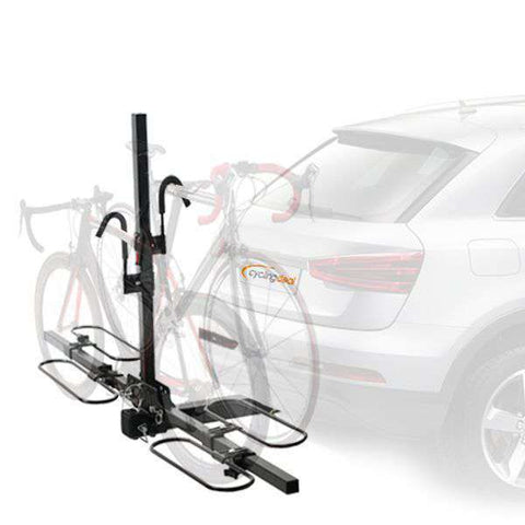 CyclingDeal 640A Cross-Country 2-Bike Hitch Mount Rack(2-Inch Receiver)