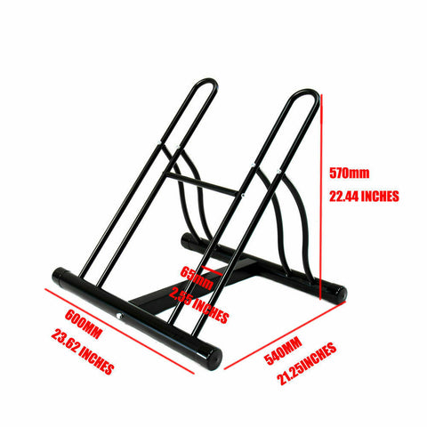 2 Bike Bicycle Floor Parking Rack Storage Stand CB-688-2