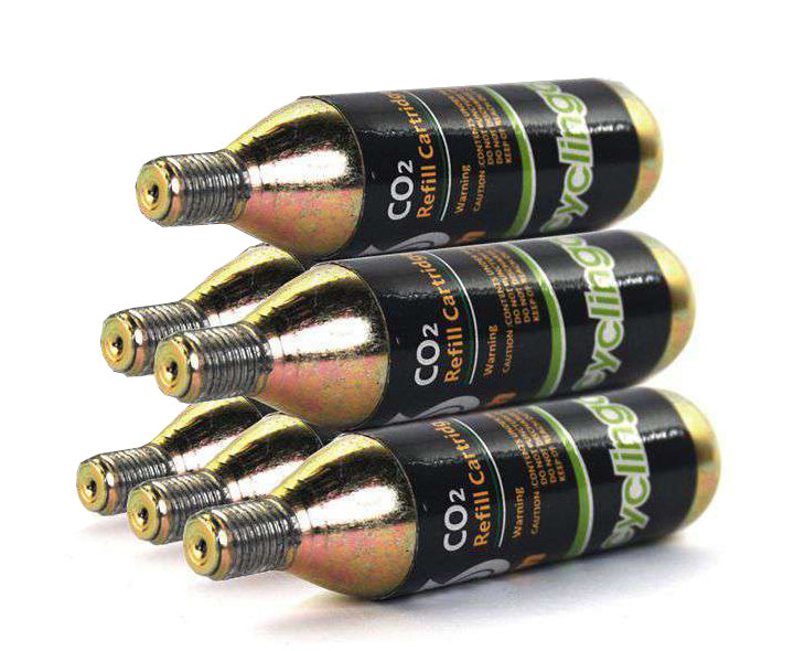 6 x 16g Threaded CO2  Cartridges Refills For Bike Bicycle Pump Inflator