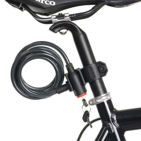 Bicycle Bike Cycling Cable Lock With Key 8x1800mm CL925