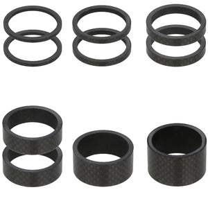 "VENZO Carbon Bike Headset Spacers 1-1/8"" 10PCS Kit Set  2, 3, 5, 10 , 15, 20mm"