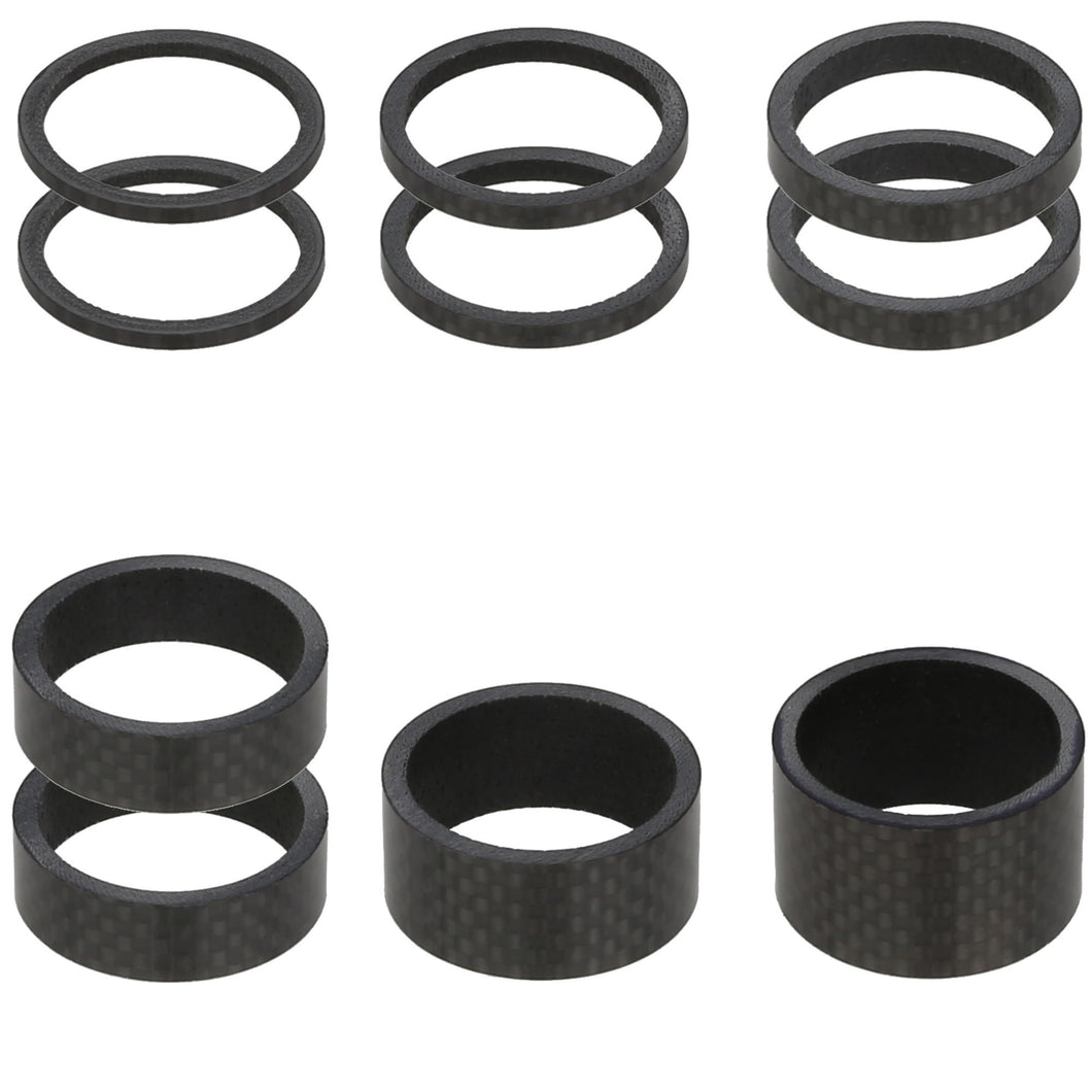 VENZO Carbon Bike Headset Spacers 1-1/8
