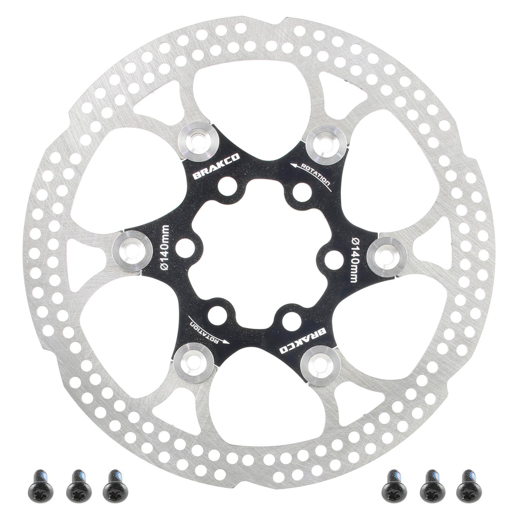 Extra Light Mountain Road Bike Bicycle Disc AL7005 Brake Rotor 6 bolts 140mm