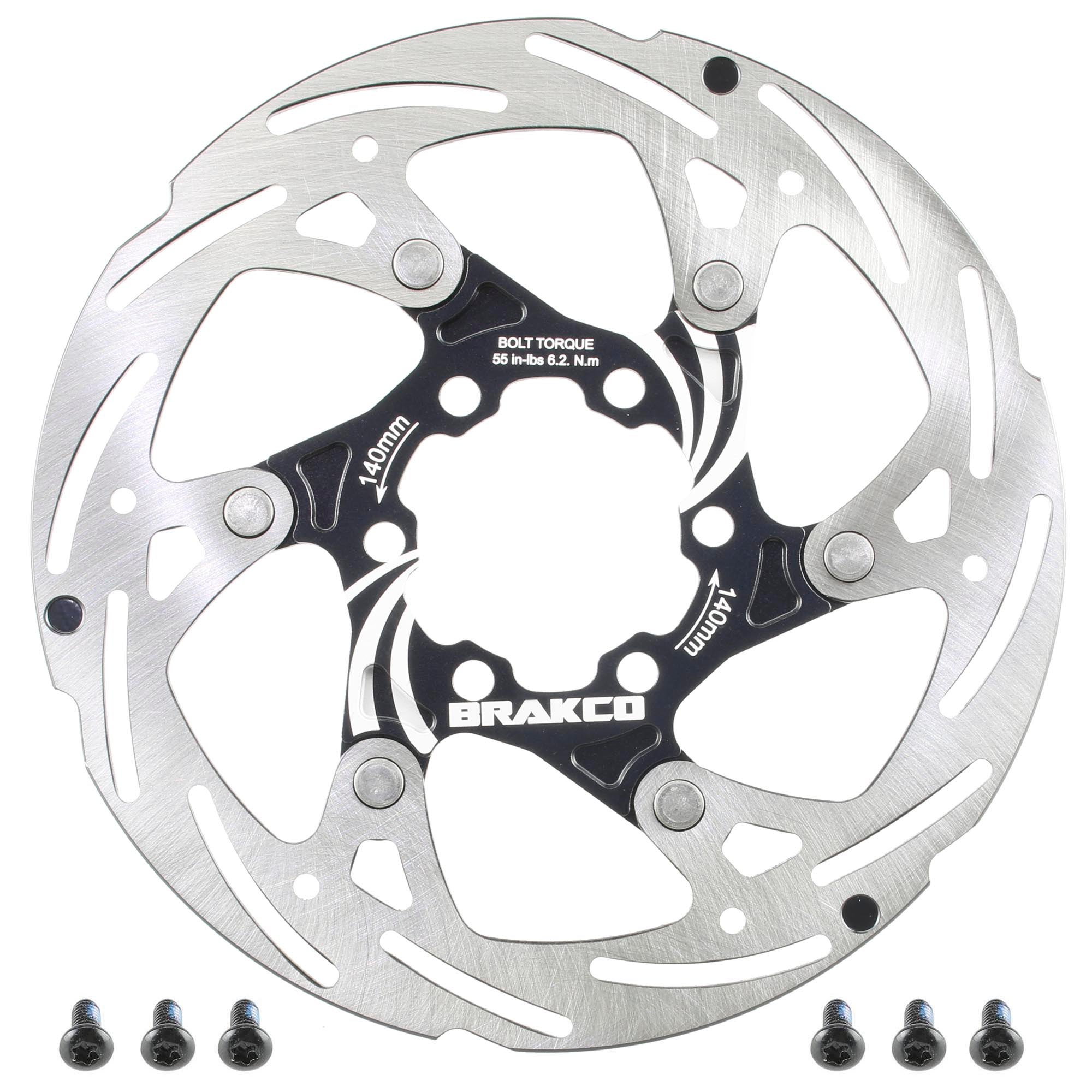 Mountain Road Bike Disc Brake AL7075 Folating Stainless Rotor 6 bolts 140mm