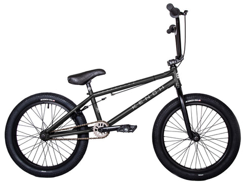 "KENCH Destroyer 02 BMX Bike Bicycle 21"" Freestyle Hi-Ten Matt Black"