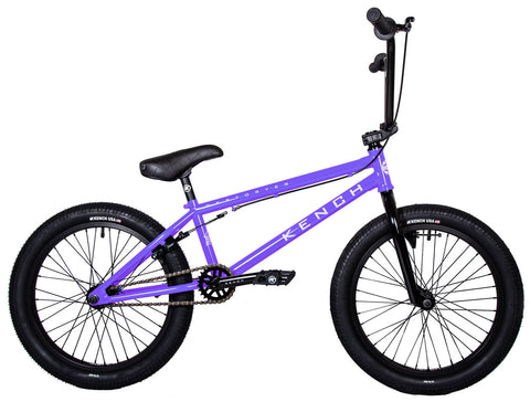 "KENCH Destroyer 02 BMX Bike Bicycle 21"" Freestyle Hi-Ten Purple"
