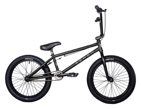 "KENCH Destroyer 02 BMX Bike Bicycle 20.75"" Freestyle Hi-Ten Matt Black"