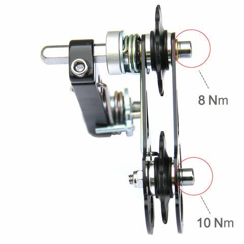 MTB Road Bike Bicycle Aluminum Chain Tensioner Black