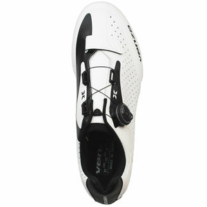 Venzo Cycling Bicycle Road Bike Shoes with Xpedo RF07MC Pedals White