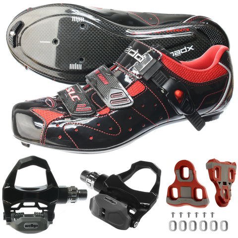 XPEDO Carbon Road Bike Bicycle Shimano SPD SL Cycling Shoes & Pedals SLC-D