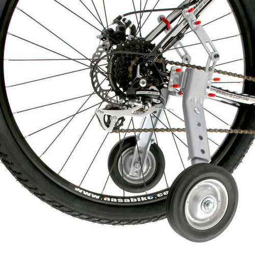 Adjustable Adult And Kids Bicycle Bike Training Wheels Fits 24