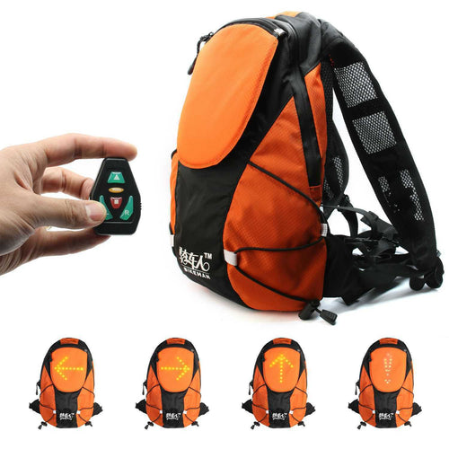 Bike Cycling Backpack with Indicator Lights
