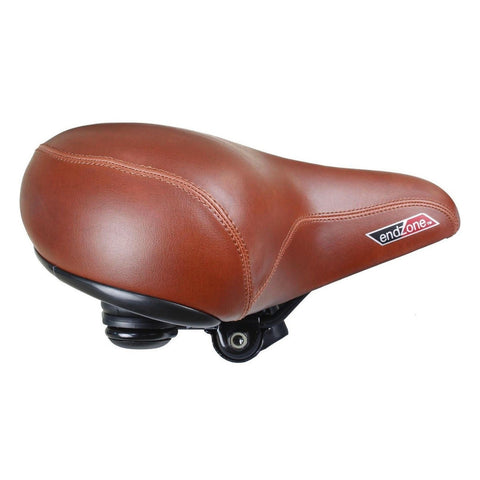 CyclingDeal Comfortable Cruiser Bike Seat Extra Wide Bicycle Saddle with Suspension - Great Replacement Soft Bike Saddle for Women and Men - Compatiable with Peloton Bike