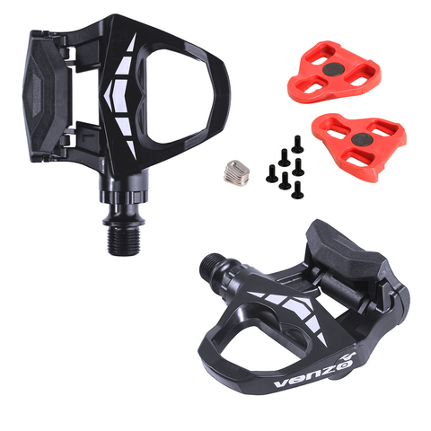 "Venzo Road Bike Pedals 9/16"" Sealed Look Keo compatible with Cleats Black"