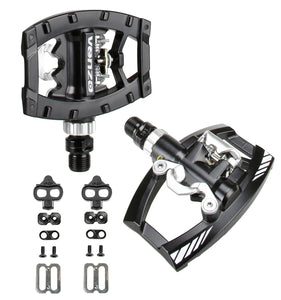 "Venzo Dual Function Platform Shimaon SPD  9/16"" Pedals Black with Cleats"