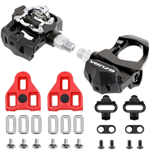"Venzo Sealed Fitness Exercise Indoor Bike CNC Pedals  compatible with LOOK ARC DELTA & Shimano SPD  9/16"" Compatible with Peloton"
