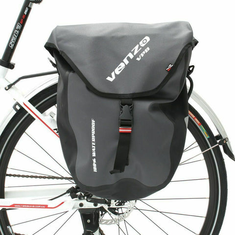 VENZO 600D TPU or Polyester Waterproof Bike Bicycle Rear Pannier Bag VZ-F21-03