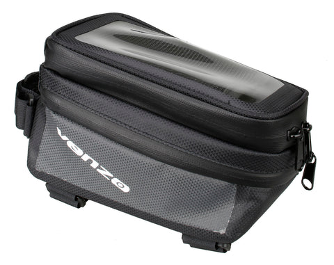 VENZO 210D Waterproof Bike Bicycle Top Tube Touch Screen Phone Holder Case