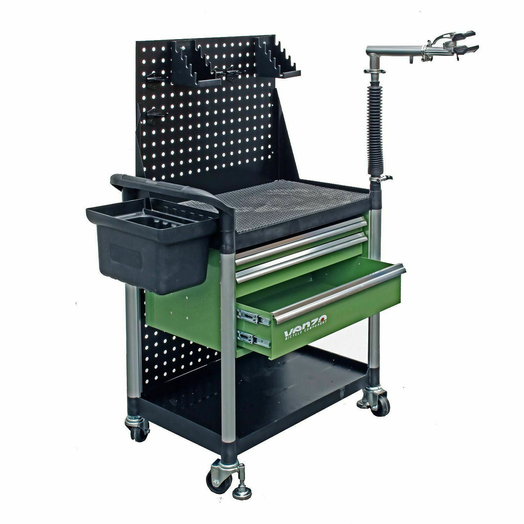 VENZO Bicycle Repair Tool Box with Workstand VZ-F33-045