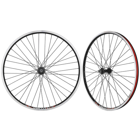 "CyclingDeal Mountain Bike 26"" 5/6/7/8 Speed Double Wall Alloy Wheelset - Bicycle MTB Thread-on Freewheel - Bolt-on Axle Front & Rear - 18mm Inner Rim Width"