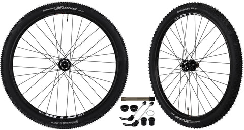 "CyclingDeal WTB ST i25 Mountain Bike Bicycle Novatec Hub With Tires Wheelset 11 Speed Tubeless Ready 27.5"" - Front: Quick release, 15x100mm, 20x100mm; Rear:Quick release, 12x142mm 4 in 1"