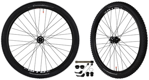 "CyclingDeal WTB ST i25 Mountain Bike Bicycle Novatec 4 in 1 Hub Continental CrossKing Tubeless Ready Tyres Wheelset 11Speed 29"" Front: Quick release, 15x100mm, 20x110mm; Rear:Quick release, 12x142mm"
