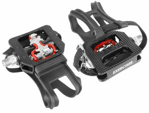 "Wellgo WPD-E003 9/16"" Thread Shimano SPD Compatible Spin Bike Pedals"