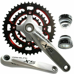 Driveline X5 Mountain Bike Crank Crankset Shimano 9 Speed 175mm