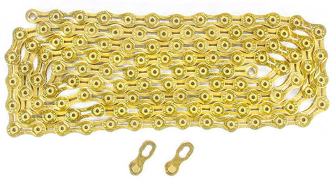 KMC X9SL Mountain Road Bike Chain Ti & Gold for Shimano Sram 9 Speed X9SL-NEW